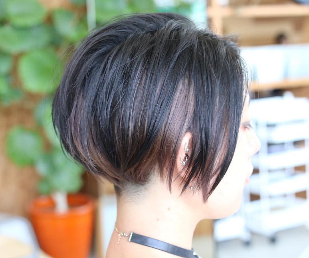Salon Work Kariage Bob Inner Color Hair Hairstyle Hairdesign