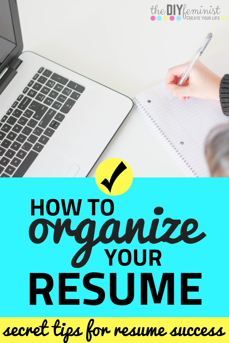 How To Organize Your Resume Sections Job Application Tips Resume