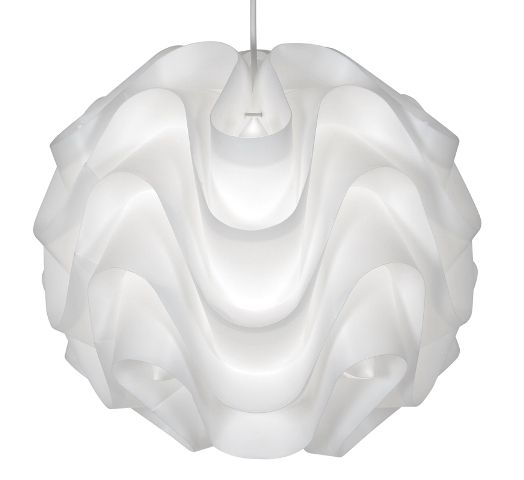 Akari large white plastic lamp shade oaks lighting wave design oaks akari large white lamp shade 430 l wh oaks lighting mozeypictures Gallery