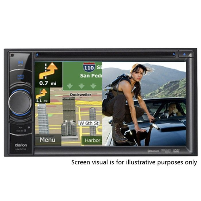 Clarion NX501E Double Din SAT NAV All-In-One Unit With 6 2-inch