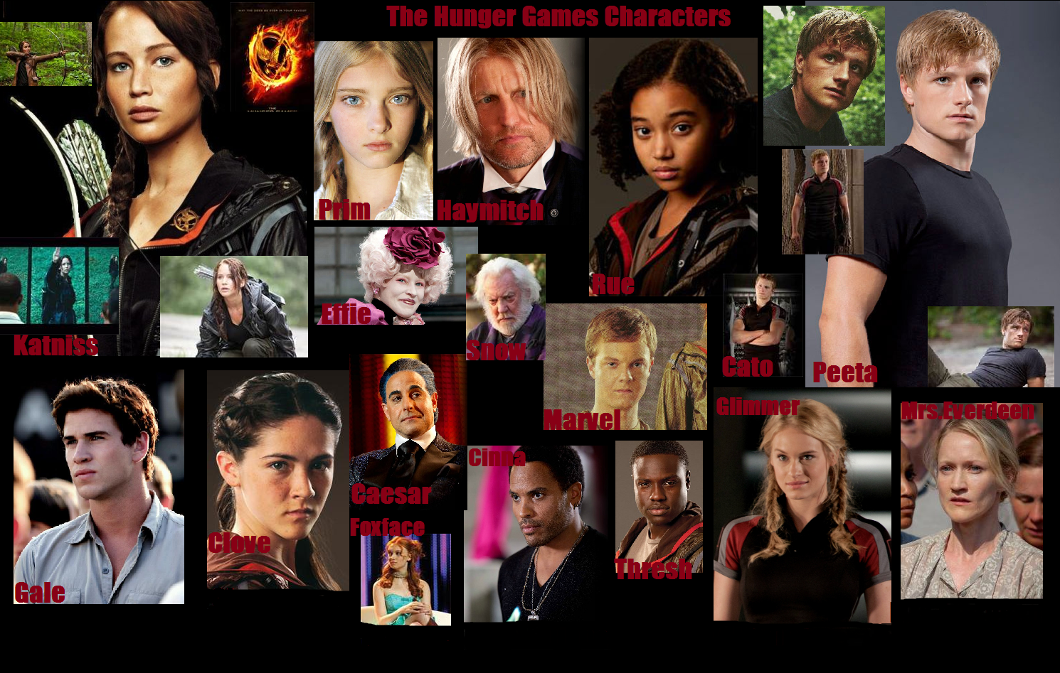 Characters From The Hunger Games Hunger Games Characters Hunger