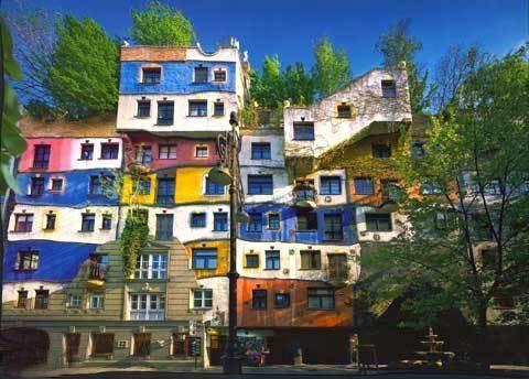 Hundertwasserhaus. Wien.