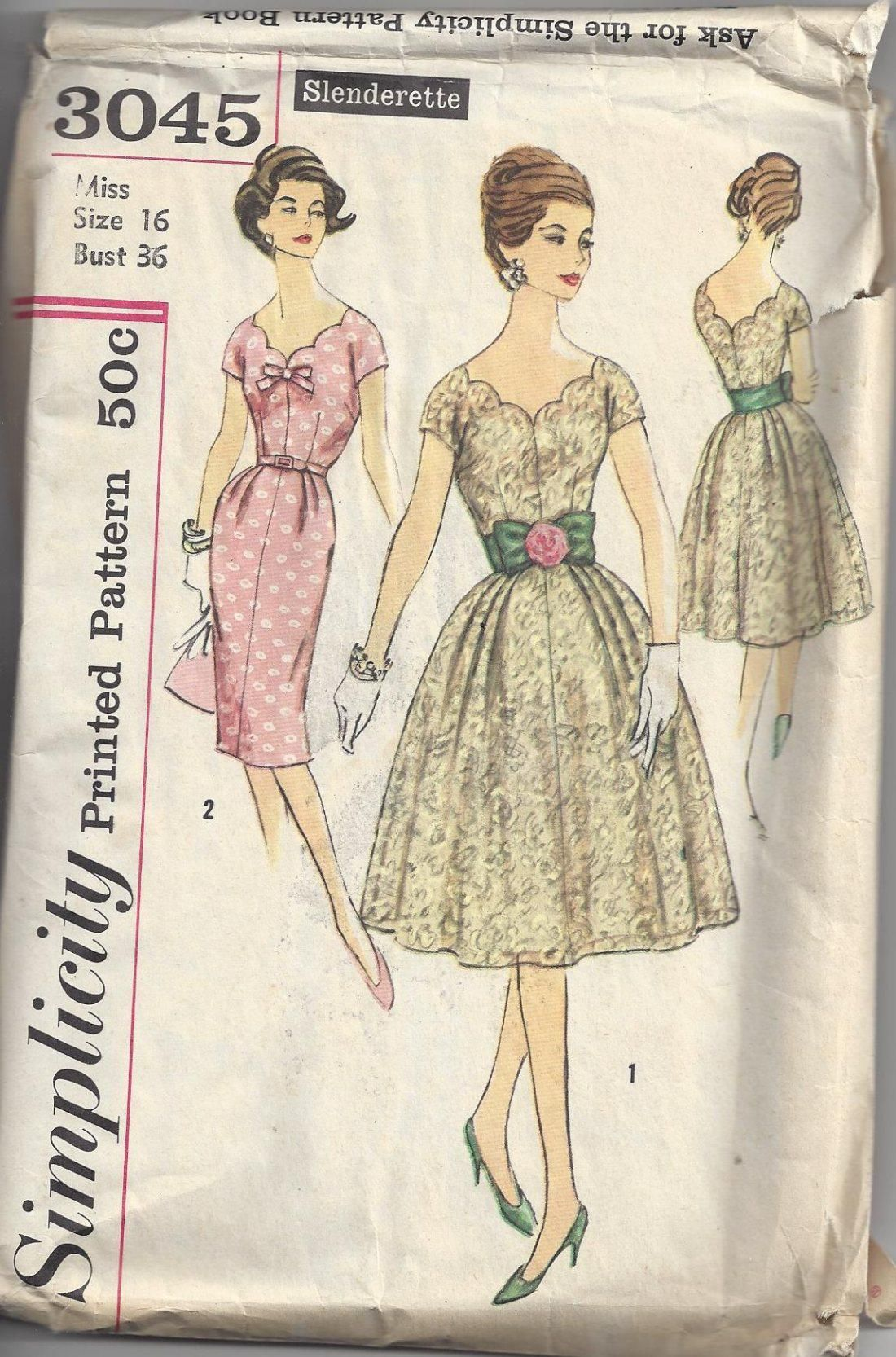 MOMSPatterns Vintage Sewing Patterns - Simplicity 3045 Vintage 60\'s ...