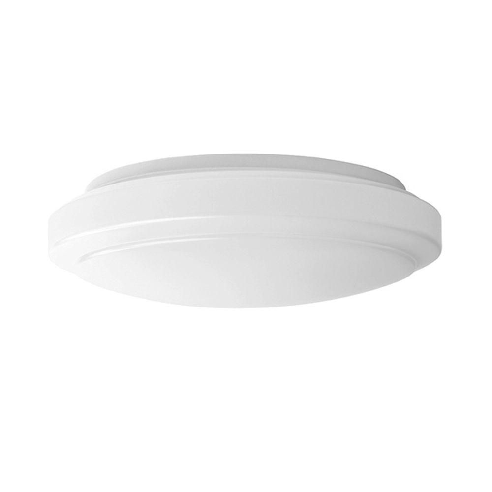 Hampton Bay 12 In Bright White Led Round Ceiling Flush Mount Light 54074341 The Home Depo Flush Mount Ceiling Lights Low Ceiling Lighting Led Light Fixtures