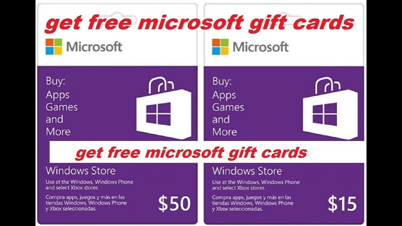 How to get free microsoft gift cards-free microsoft gift ...