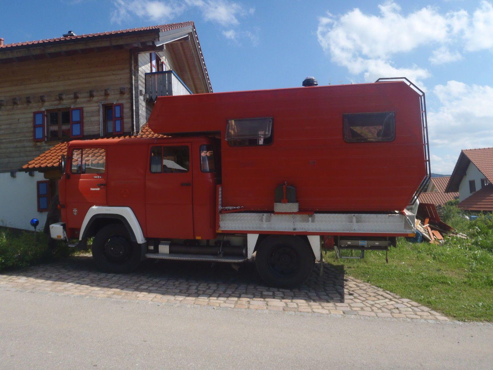 magirus 130 d9 fa allrad wohnmobil mit absetzkabine 4x4 in. Black Bedroom Furniture Sets. Home Design Ideas