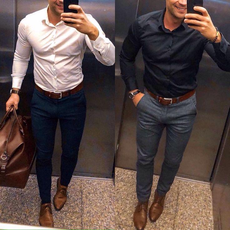 "Photo of Herrenmode auf Instagram: ""Links oder rechts? Wählen Sie Ihren Lieblingslook! #TR …"