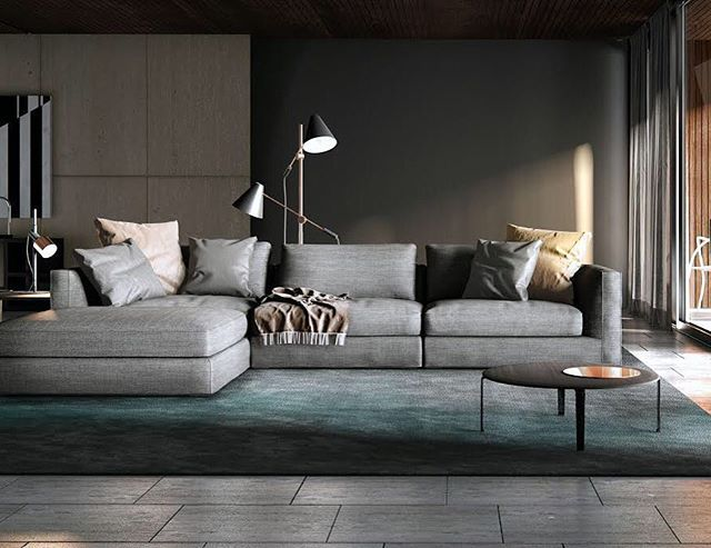 Always Drawn To Low Profile Modular Sectionals With Chaise But