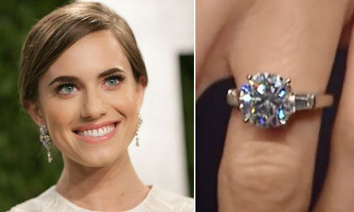 Allison Williams Engagement Ring Celebrity Engagement Rings