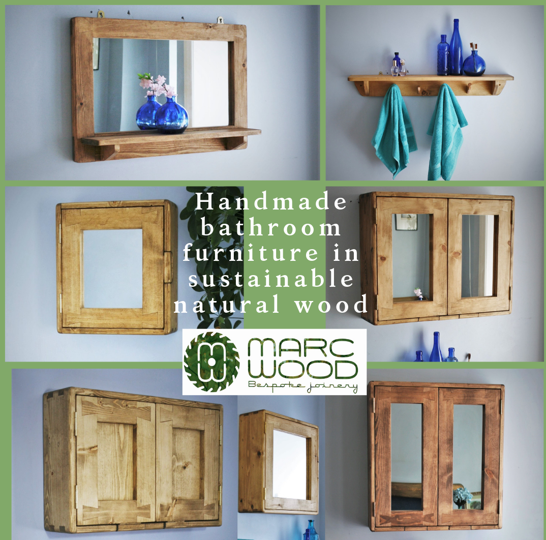 Our Bathroom Furniture Wall Cabinet And Mirror With Handmade Bathroom Furniture Natural Wood Furniture Bathroom Furniture