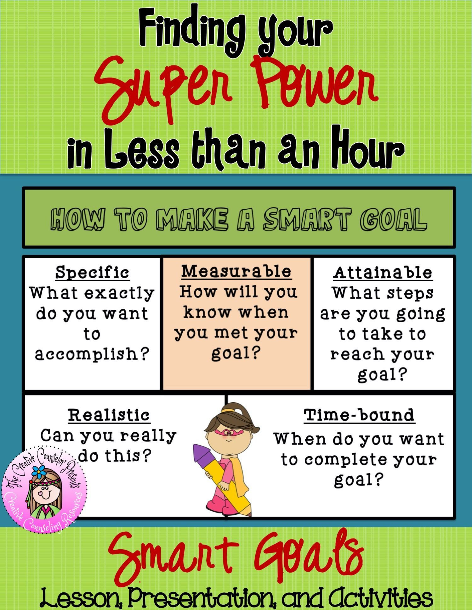 Setting Smart Goals Lesson With Practice Worksheet