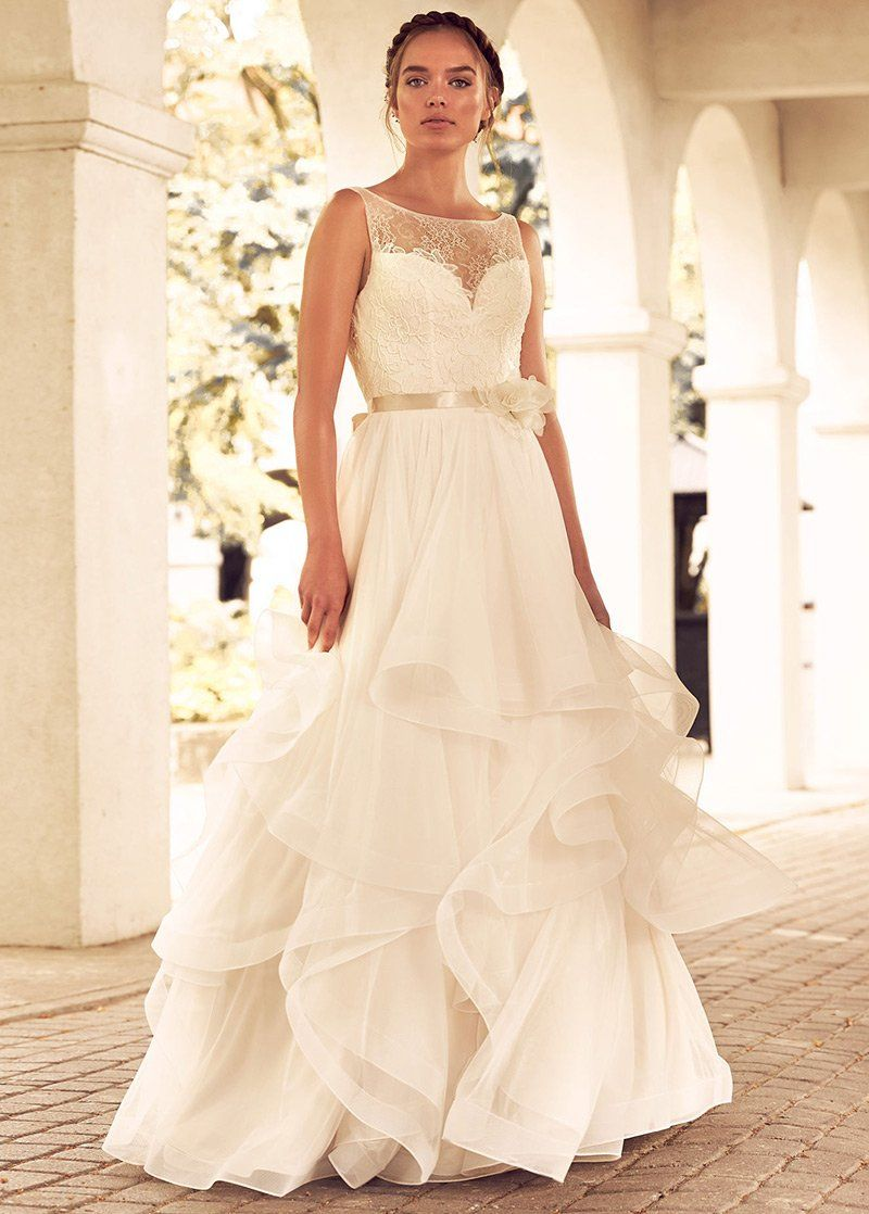 Wedding Dress Simple, Attractive Lace & Tulle Bateau
