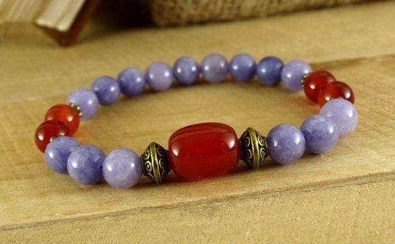 Birthstone bracelet Gemstone bracelet Womens Beaded bracelet