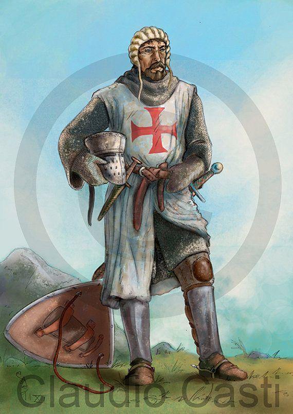 Il Cavaliere  Stampa a colori  A4 armatura di claudiocastishop, €20,00