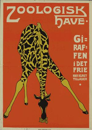 Zoologiske Have Plakater Giraf Illustration
