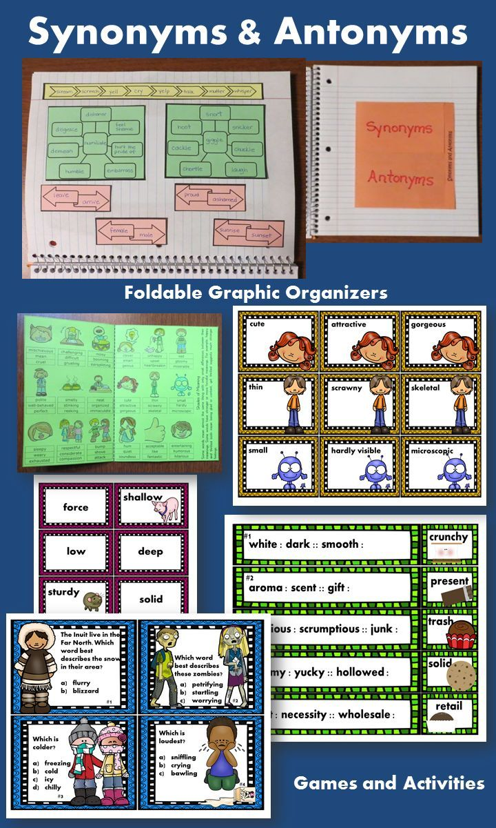 synonyms and antonyms teachers pin teachers pinterest graphic
