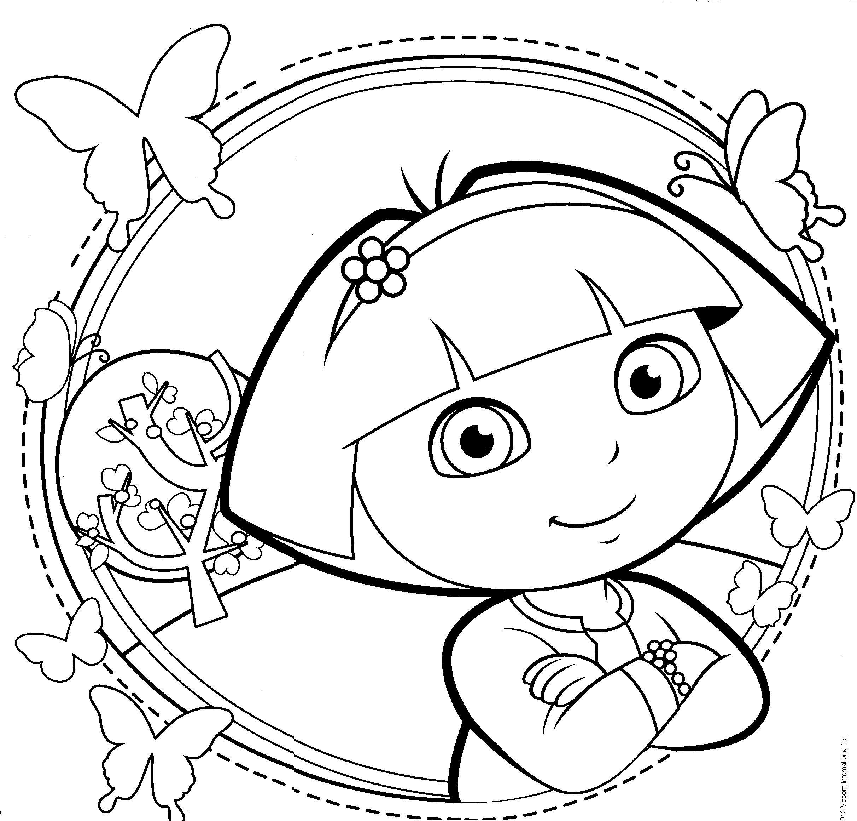 Dora The Explorer Coloring Pages | 卡通 | Pinterest