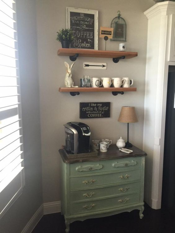 20 Mind-Blowing DIY Coffee Bar Ideas and Organization ...