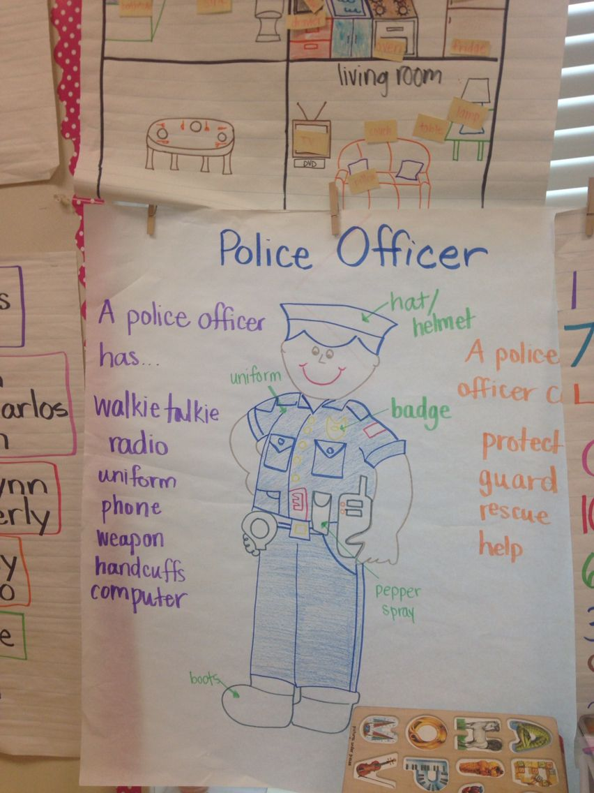 Police officer anchor chart-community helpers ...