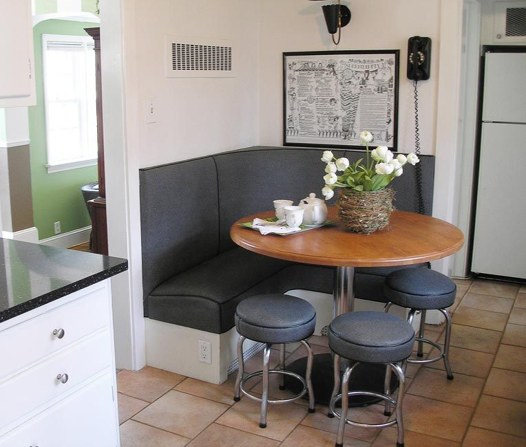 Contemporary Kitchen Booths | Built In Kitchen Booth With Storage Drawers  Below