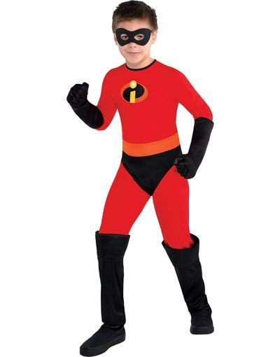 4-6 Includes Mask and Gloves Small Disney Party City The Incredibles Dash Halloween Costume for Boys