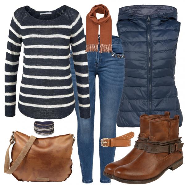 Herbstfarben Damen Outfit Komplettes Herbst Outfit günstig