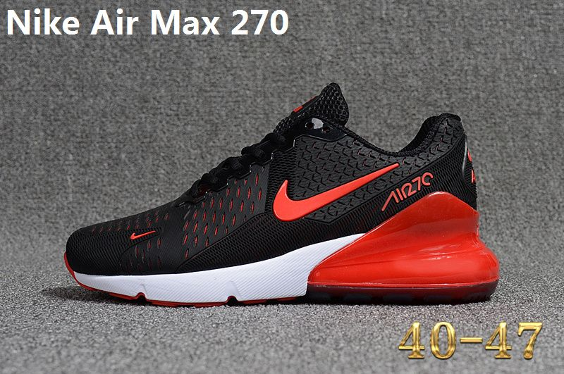 e9b19fa94 Spring Summer 2018 Genuine Nike Air Max 270 KPU Latest Styles Running Shoes  Sneakers 2018 Black Red