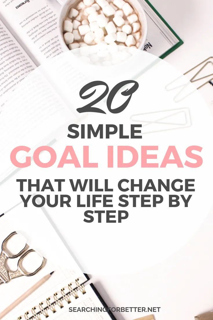 A List Of 20 Goal Ideas For 2020 (Updated) - Searching For Better #lifegoals