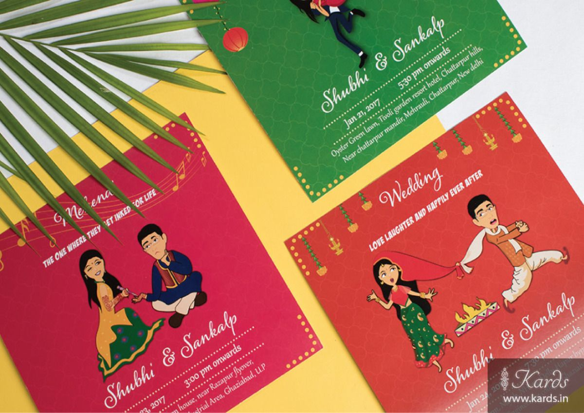 Quirky Bride Indian Wedding Invitation Card | Invitations ...