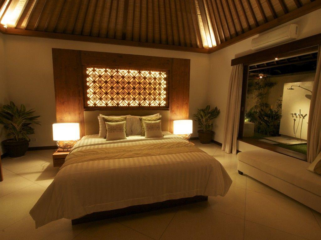 Master bedroom ensuite design  Villa Seriska master bedroom with garden bathroom  Interior Design