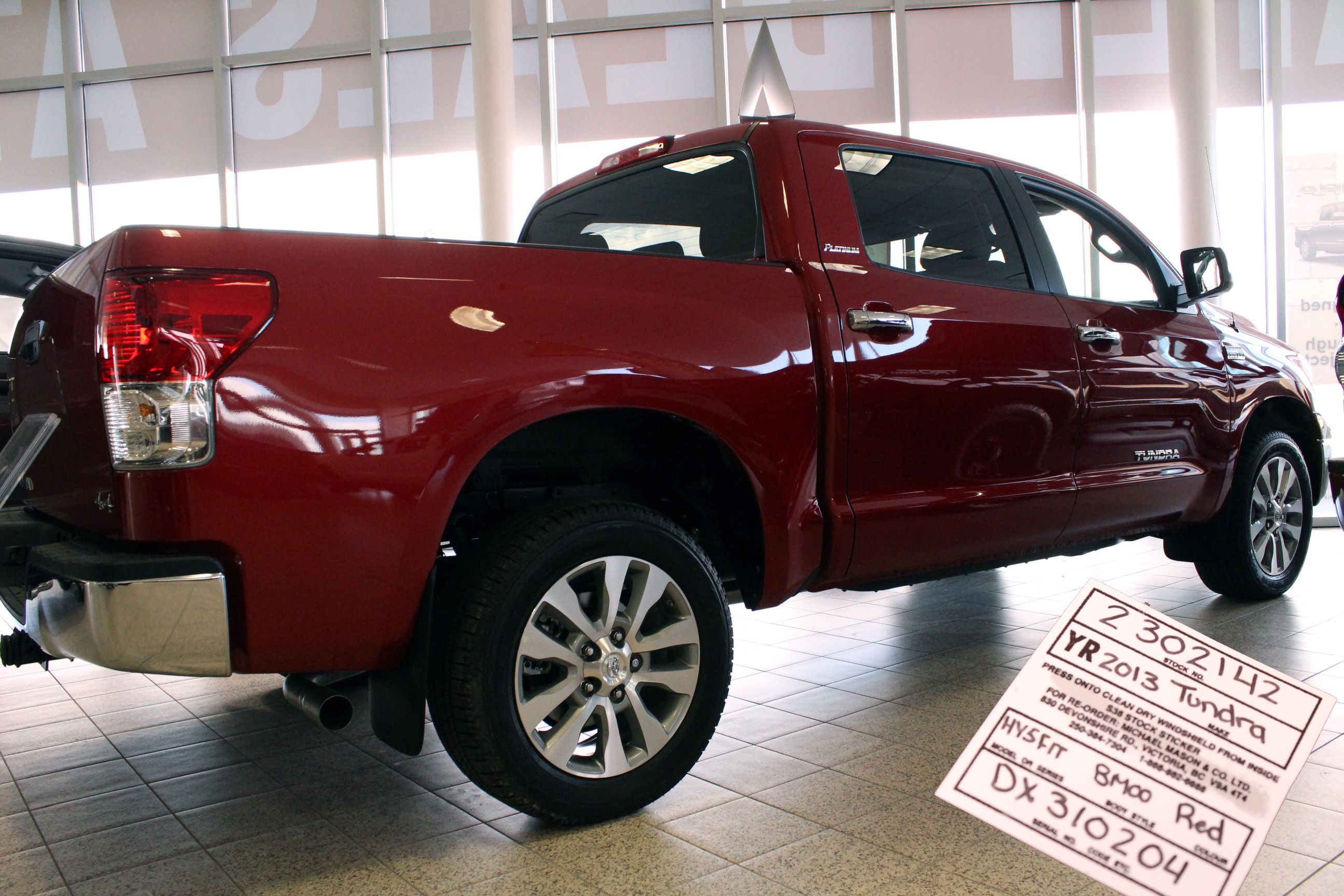 2013 (red) Tundra pickup truck for sale in Calgary