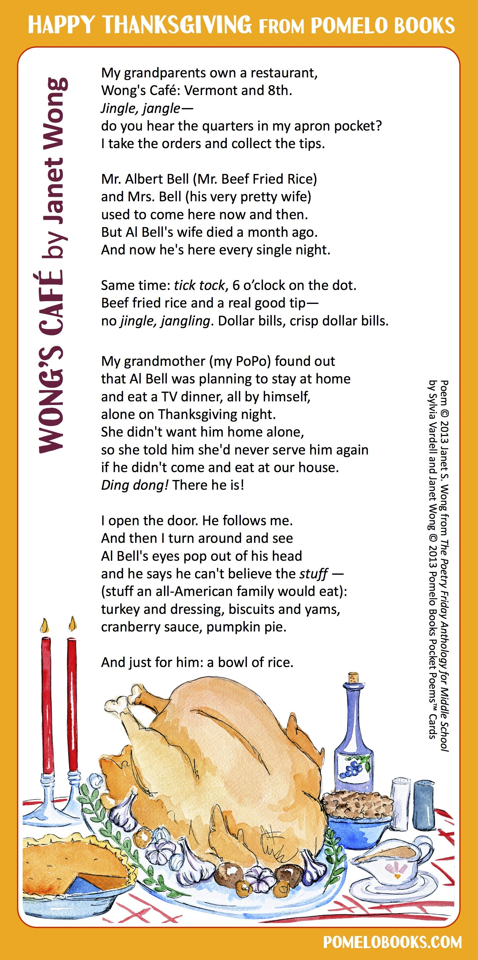 Wong S Cafe By Janet Wong From The Poetry Friday