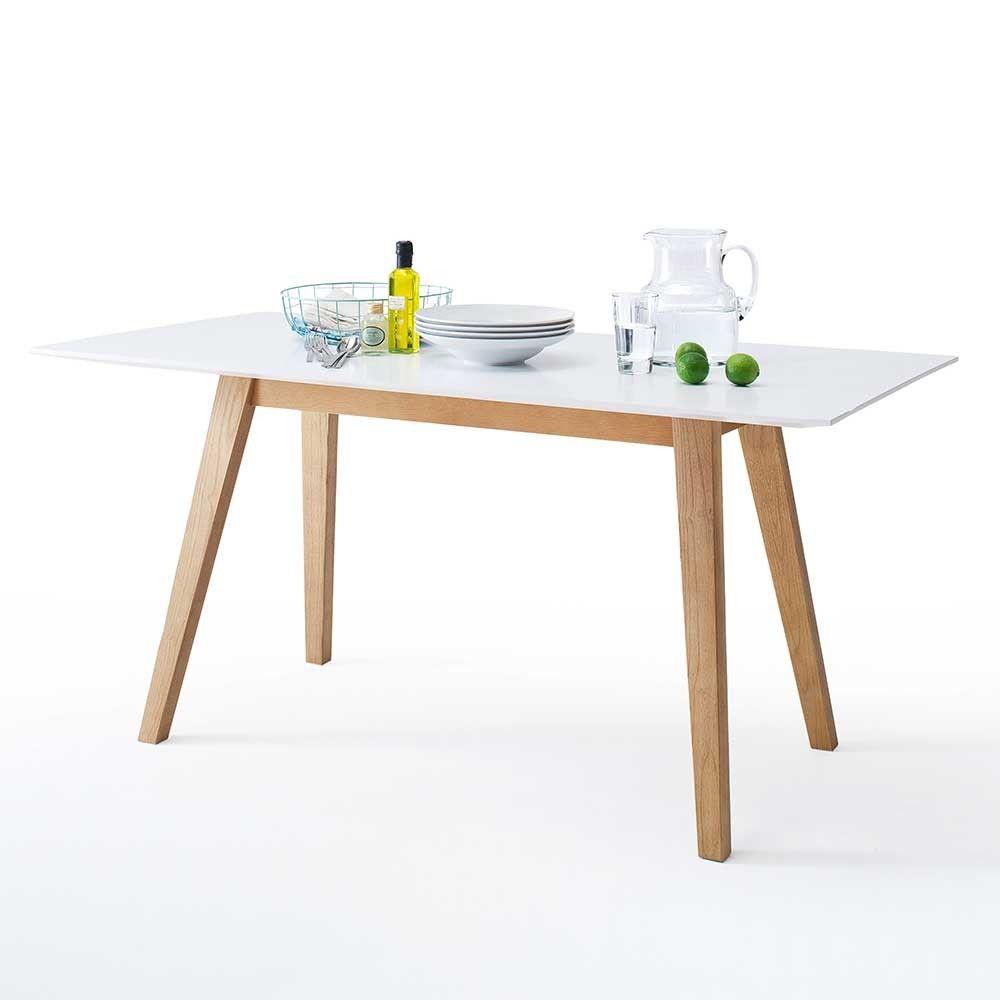 esstisch modern weiss, esstisch jakalyn in weiß eiche im retro style | pinterest | modern, Design ideen