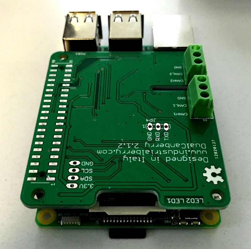 CanBerryDual V 2 1 is the only extension board for Raspberry Pi with