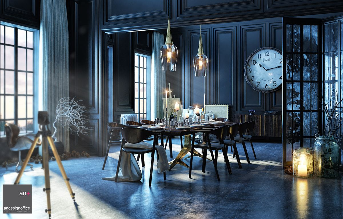 Old Dining Room on Behance