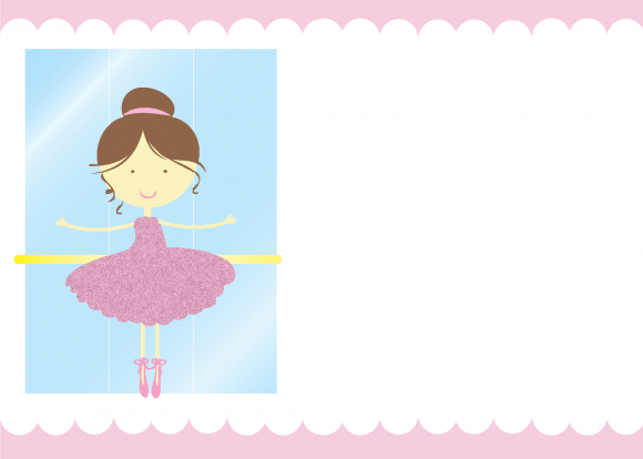 Free Ballerina Printable Invitation