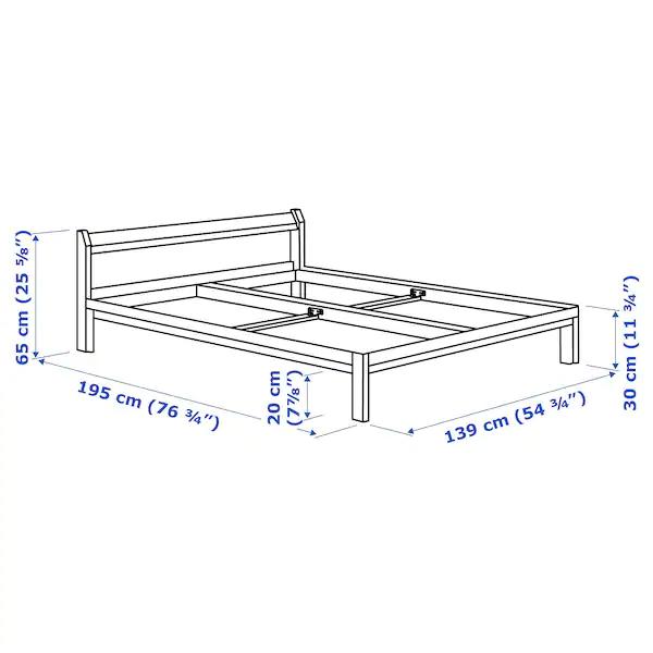 Neiden Bed Frame Pine Birch Luroy Full Bed Frame Wood Bed