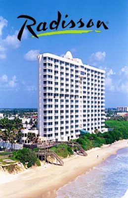 Radisson Suite Hotel Oceanfront Melbourne Fl 3101 North Highway A1a 32903 Florida Map
