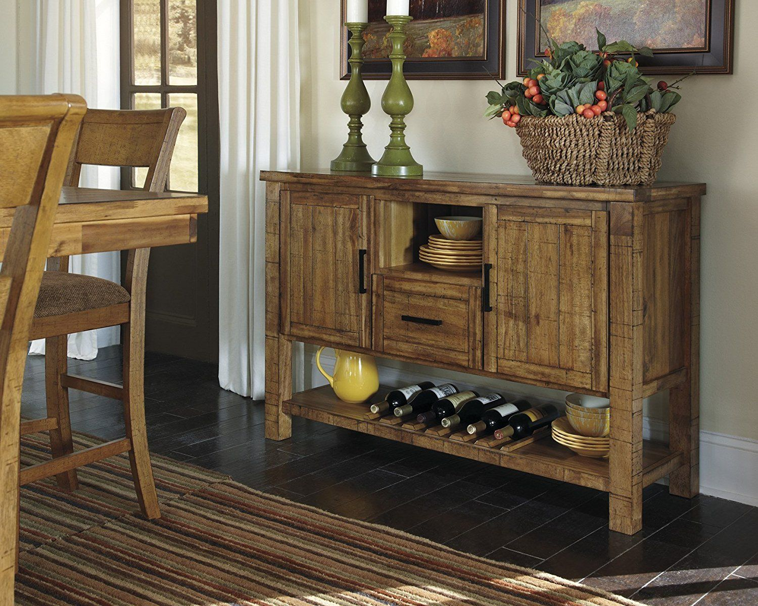 Cultivate An Inviting Place For Mealore With This Rustic Rectangular Dining Room Counter Extension Table The Framed Design Has A Thick