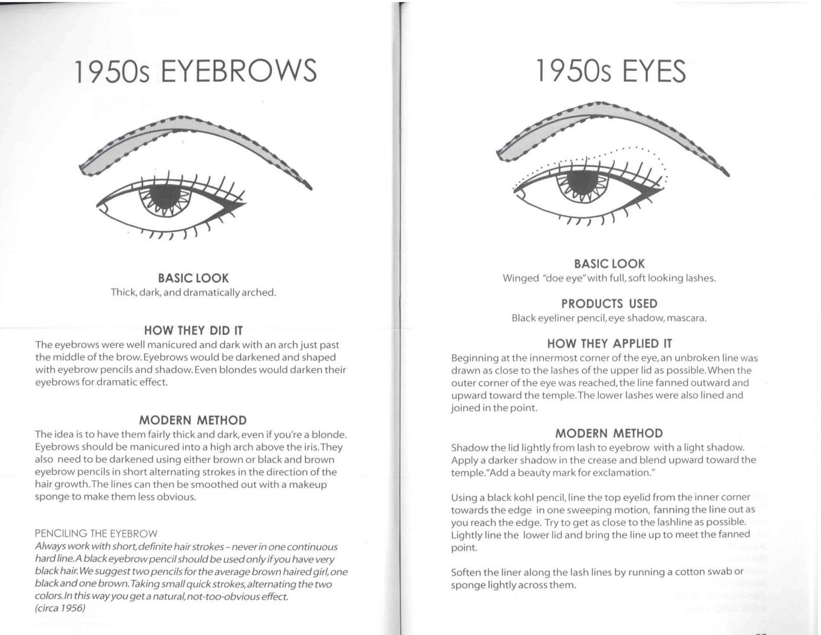 How To Create The 1950s Arched Eyebrow + Eye Makeup For The Ultimate