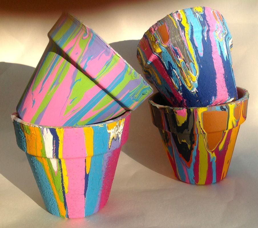 Goteo botes de pintura - fabulosa idea para el jardín o un regalo del profesor. Después de la Escuela de Arte - Art Matters Studio www.artmattersstu ...