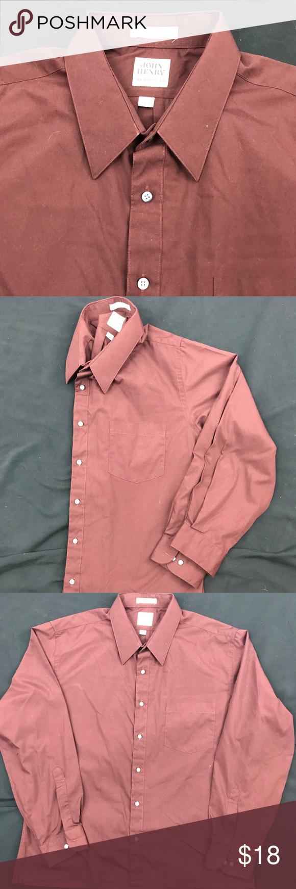 Vintage dark brown button down dark brown dress shirts and athletic