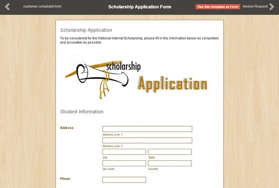 This is a demo of a Scholarship Application Form made by one of - scholarship form