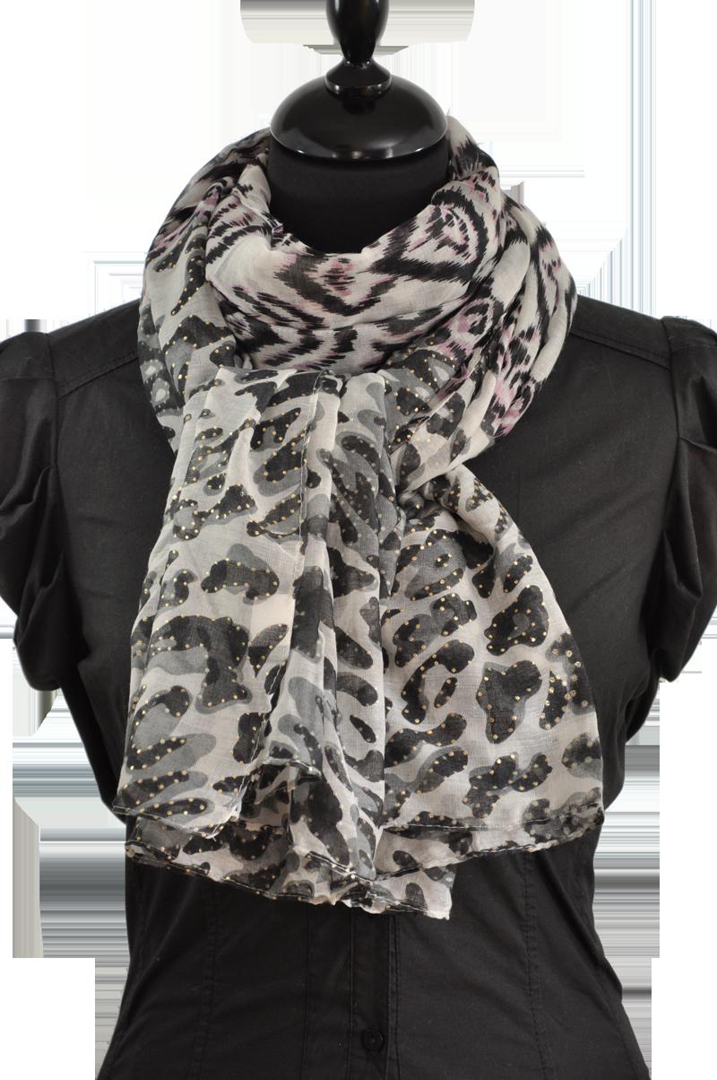 Foulard imprimé léopard et graphique Foulards Imprimés, Imprimé Graphique,  Gris 9f5d452d6dd