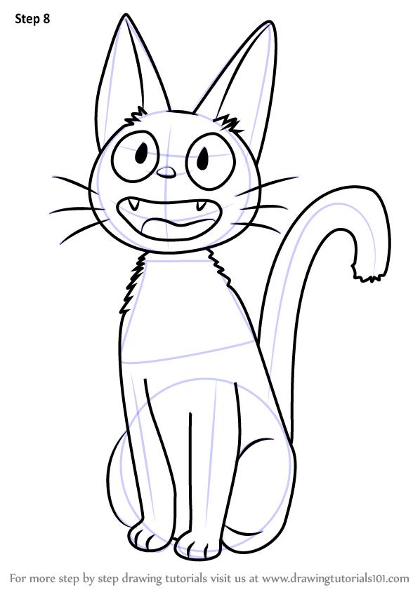 Learn How To Draw Jiji From Kiki S Delivery Service Kiki S Delivery Service Step By Step Drawing Tutorials Ghibli Art Studio Ghibli Art Japanese Drawings