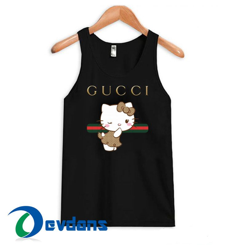 5183ab8d5 Gucci Stripe Hello Kitty Tank Top Men And Women Size S to 3XL | Tank top