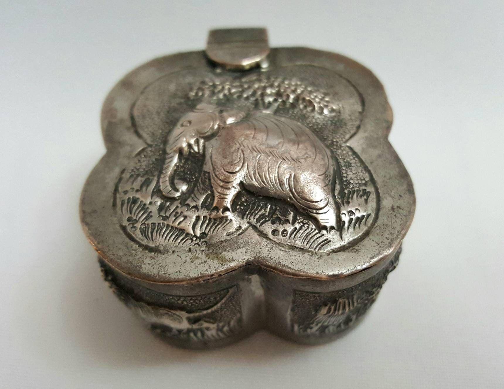 Vintage Silverplate Elephant Trinket Tray