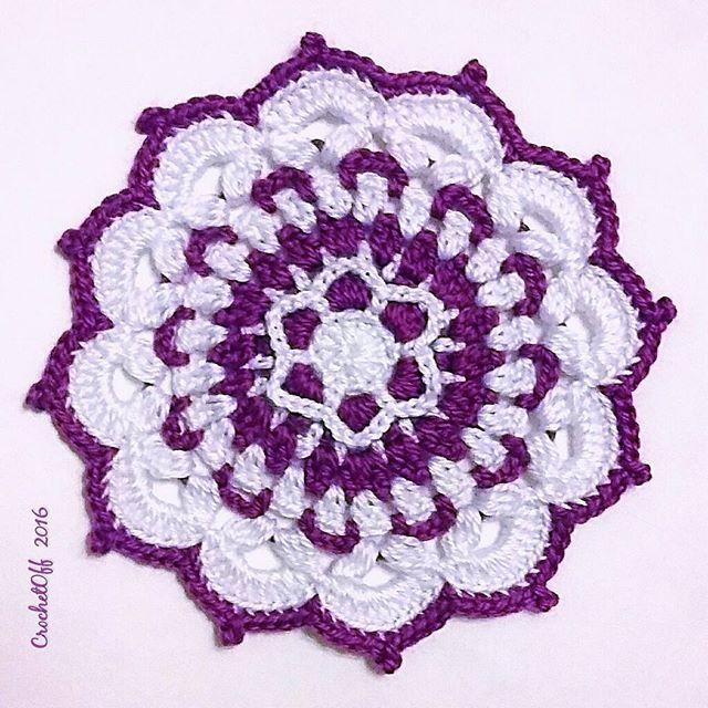 Crochet Patrón mandala | Atrapa Sueños | Pinterest | Crochet ...