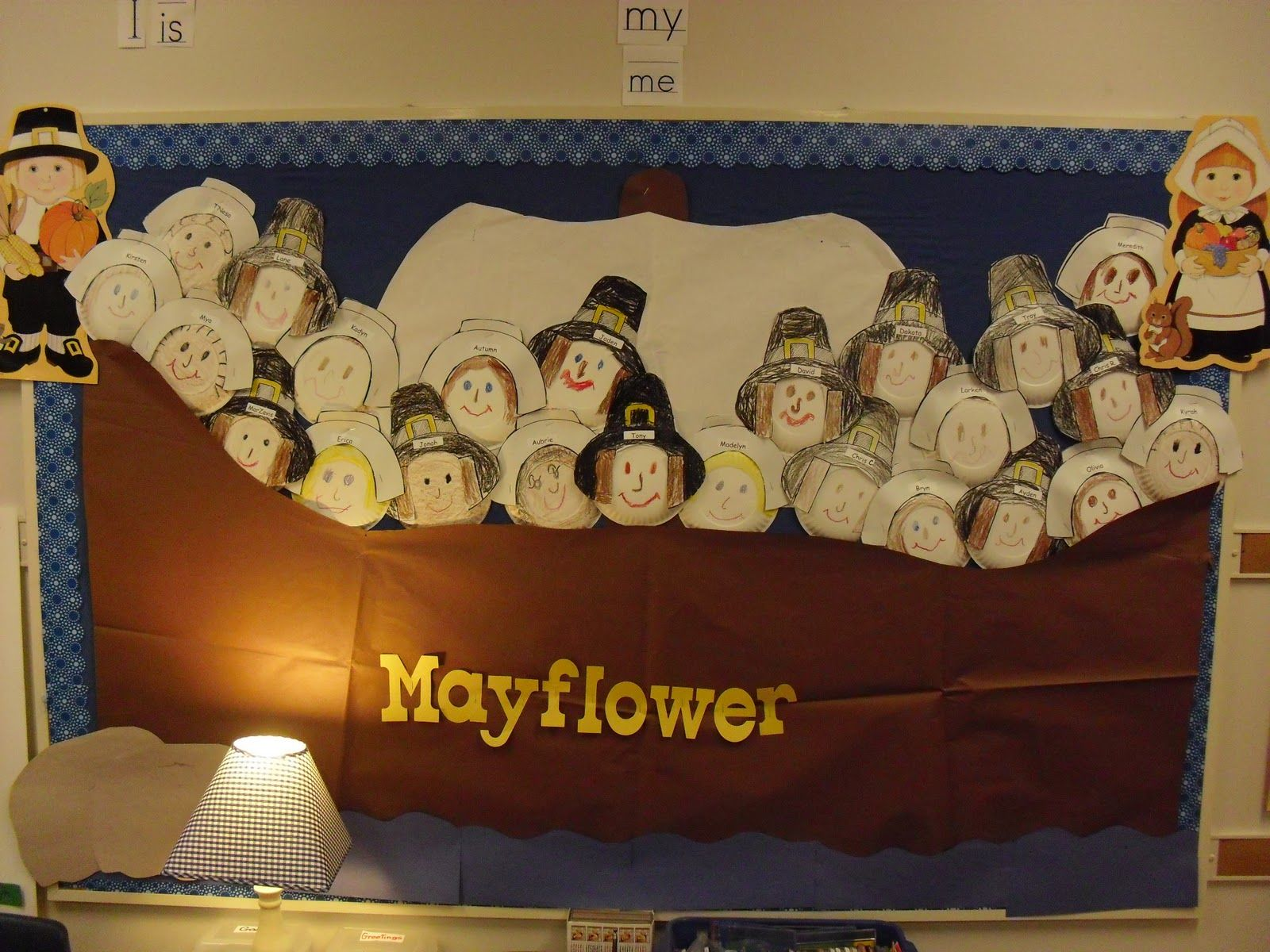 Mayflower With Paper Plate Pilgrims Miller S Messages