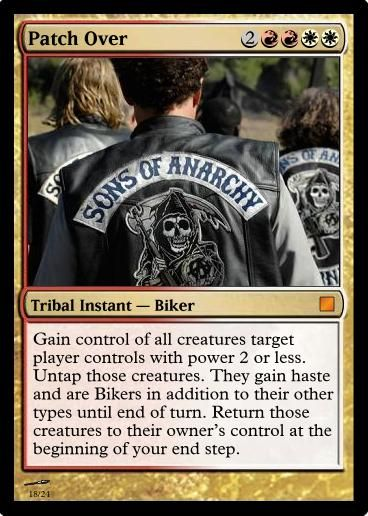 Patch Over Mtg Sons Of Anarchy Samcro Sons Of Anarchy Anarchy